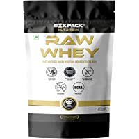 Six Pack Nutrition Raw Whey Protein Concentrate 80% Unflavored - 24g Protein, 5.4g BCAA,4g Glutamic Acid 907g / 2 lbs