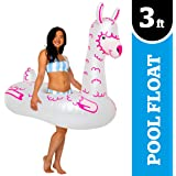"""BigMouth Inc. Llama Pool Float, Thick Vinyl Raft, Holds 200 Pounds and Includes Patch Kit 48: x 48"""""""