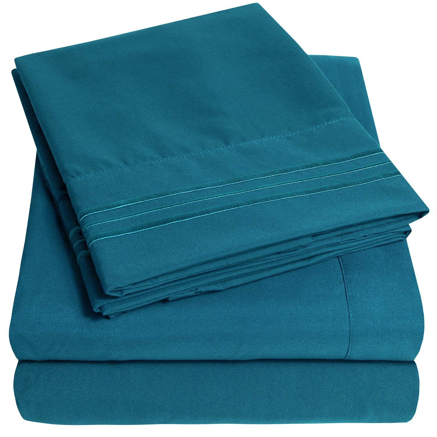 1500 Supreme Collection Extra Soft California King Sheets Set, Teal - Luxury Bed Sheets Set with Deep Pocket Wrinkle Free Hypoallergenic Bedding, Over 40 Colors, California King Size, Teal