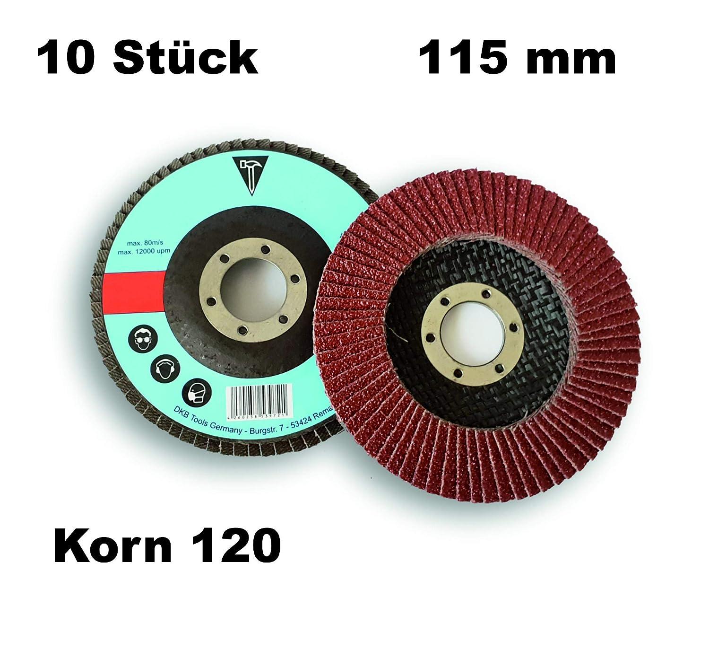 5 Fächerscheiben K60 Standard 125 mm Braun Holz und Metall Schleifmopteller
