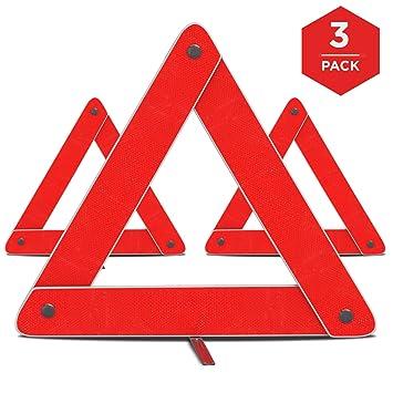 Amazon.com: Emergency Warning Triangle by mAuto™, Foldable ...