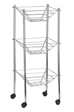 Premier Housewares 3 Tier Storage Cart   Chrome