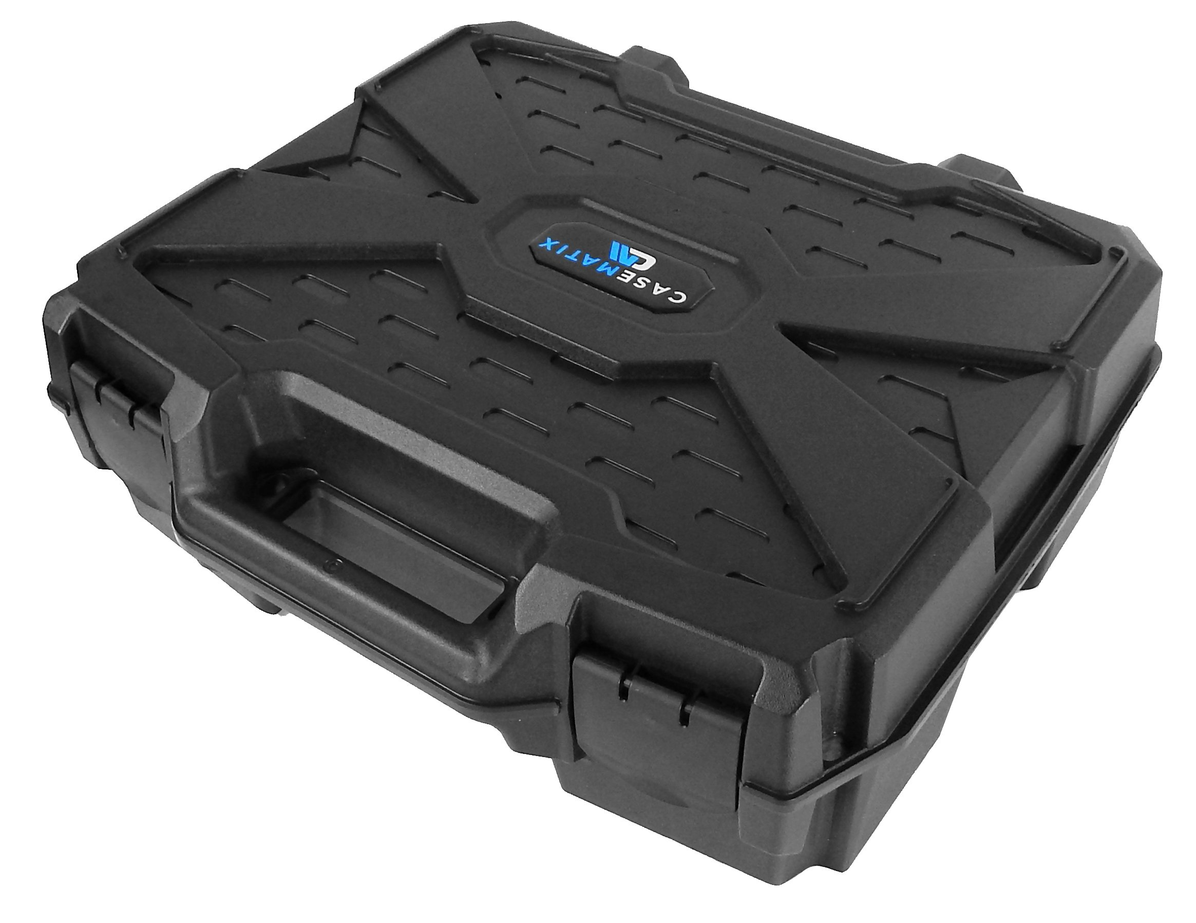 CASEMATIX Deluxe DJ Hard Travel Carrying Case (17'') for Remix Station or Sub Controller and Accessories - Fits Pioneer DDJ-SP1 / RMX-1000 / RMX-500