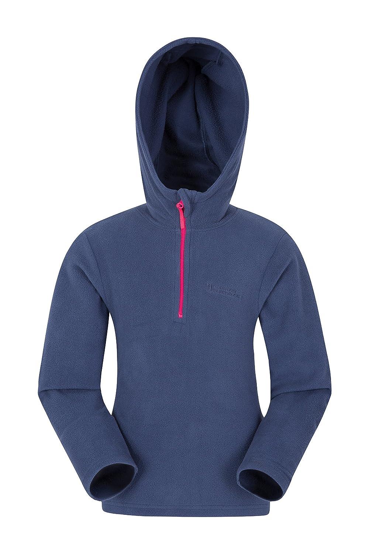 Mountain Warehouse Camber embroma Microfleece Hoodie - la chaqueta de los niños de Breathable, Hoodie, Microfleece, aprisa seco, Antipill, capa ligera