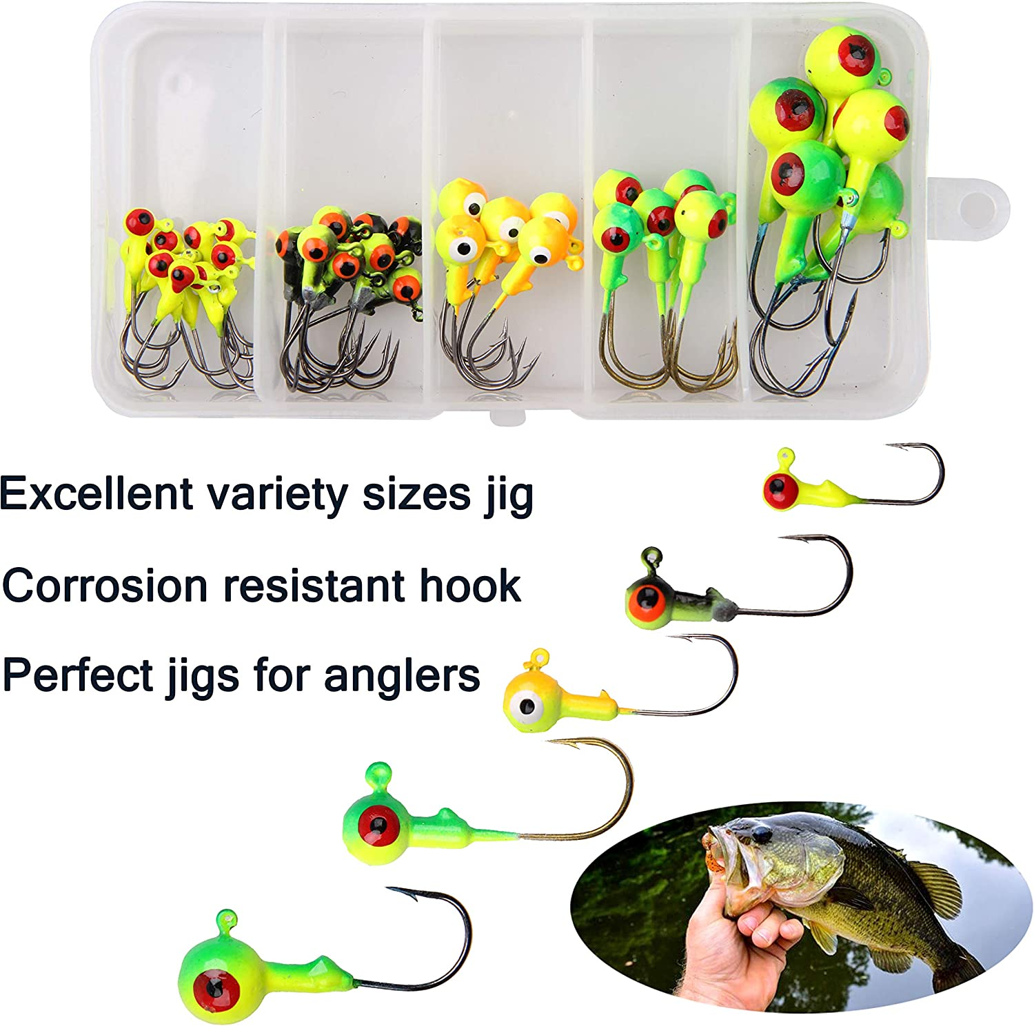 Fishing Barbed Collar 2g 4g Lead Head Jig Hook with Bait Sequin Lure Carp T A0W3