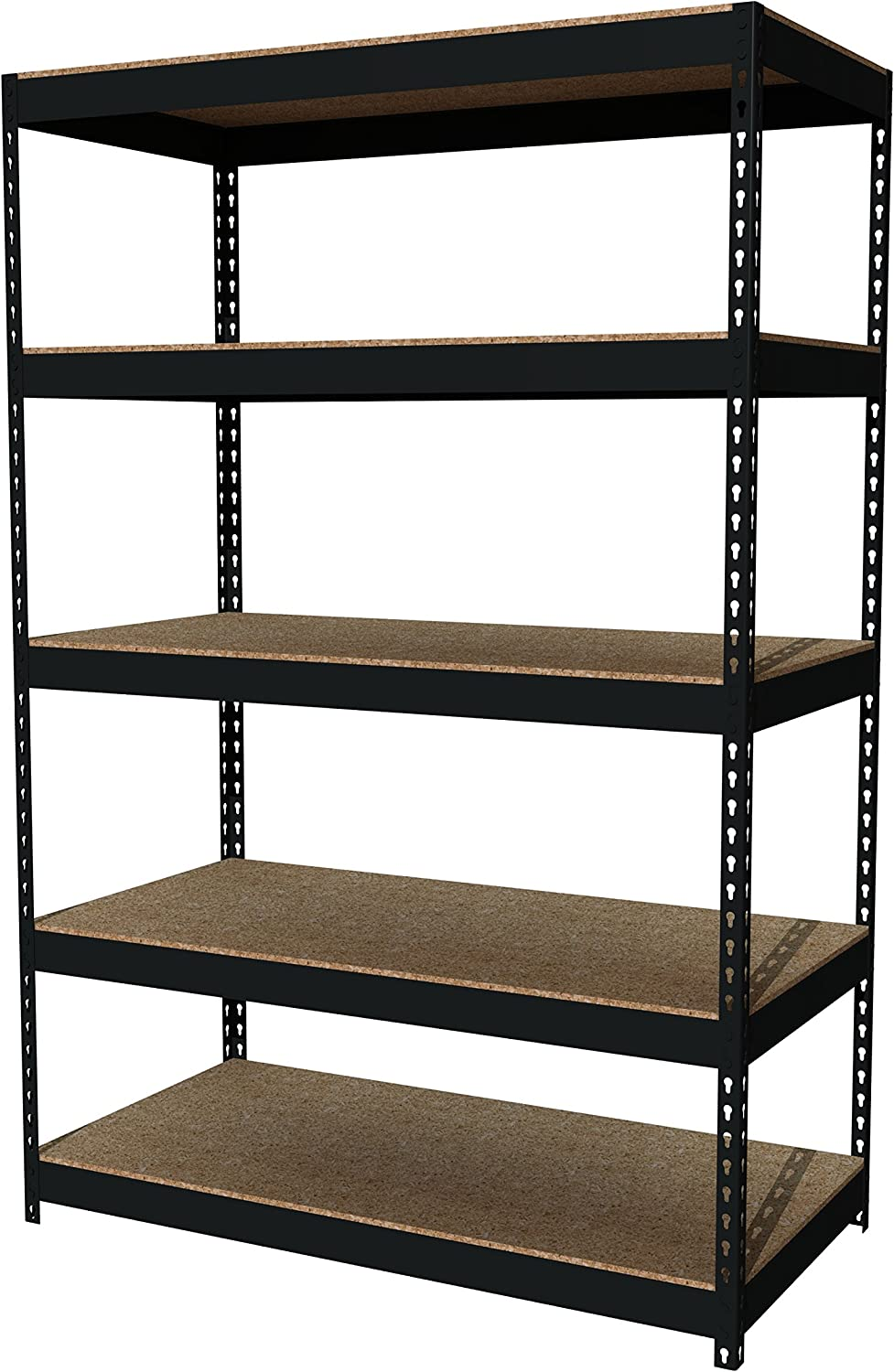 Office Dimensions Riveted Steel Shelving 5-Shelf Unit, 48