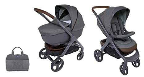 CHICCO 00079223190000 Duo Styl EGO Up Crossover (Sport carro + capazo), Gris