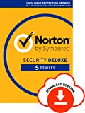 Norton Security Deluxe 2019|5 Devices|1 Year|Antivirus Included|PC|Mac|iOS|Android|Download