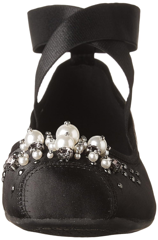 Jessica Simpson Women's Mineah Ballet Flat B075MN29M2 6.5 B(M) US Black Satin
