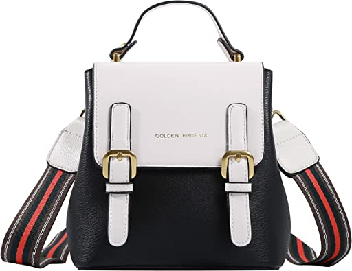 PU Leather Shoulder Bag,Good Vibes Fashion Backpack,Portable Travel School Rucksack,Satchel with Top Handle