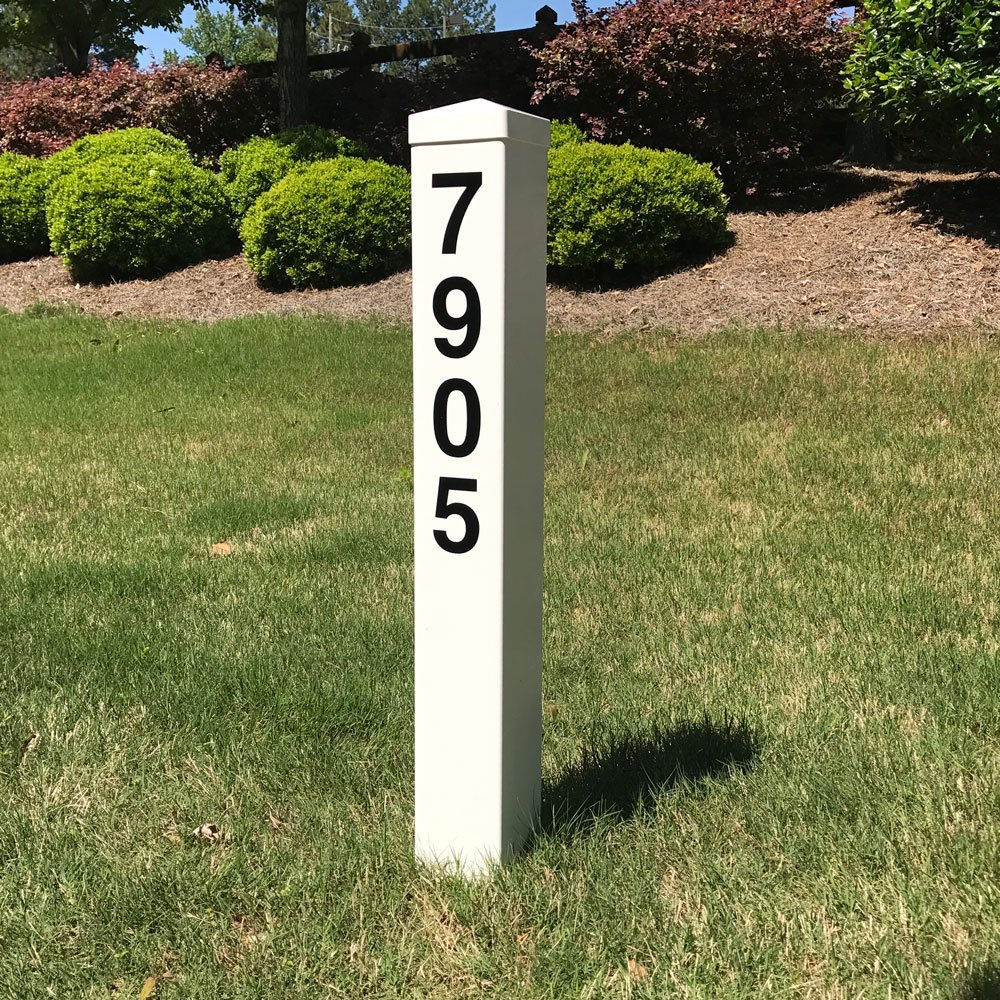 Hampshire House Address Marker Post - Includes House Number - No Digging Required