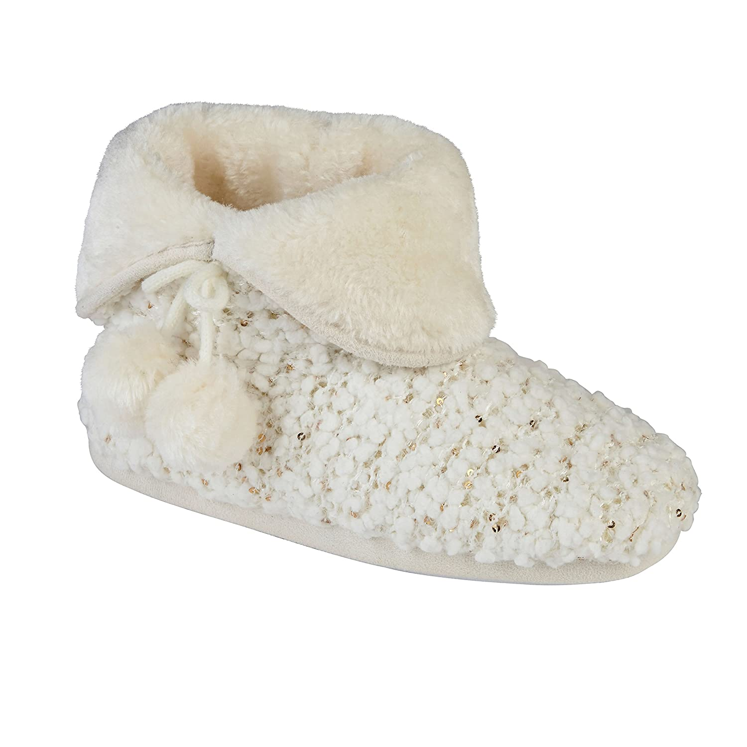 a052baf9bd370 Purdashian New Ladies Soft Faux Fur Lined Warm Slipper Boots Booties:  Amazon.co.uk: Shoes & Bags