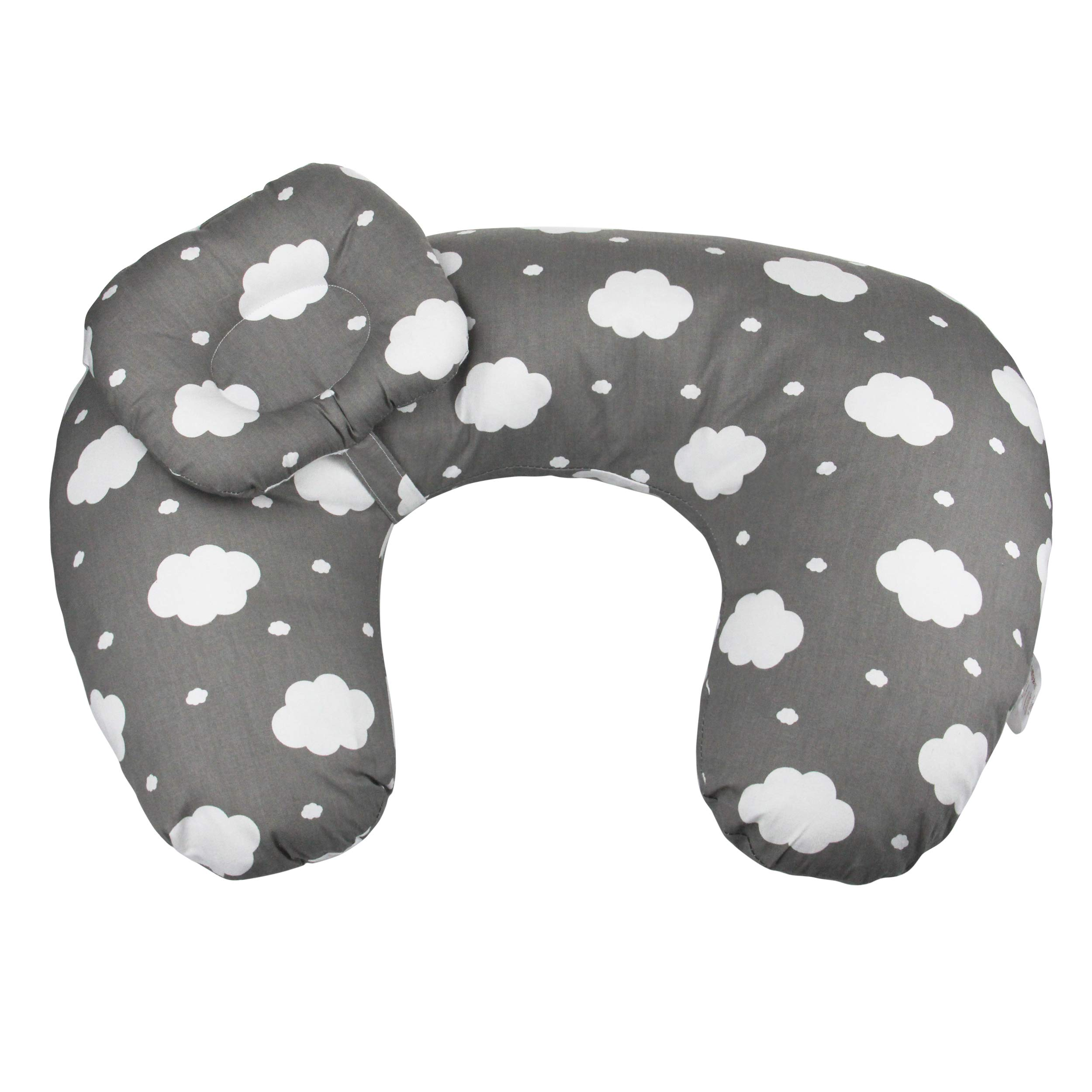 ERISDOO Baby Nursing Pillow for Breastfeeding- Round Pillow for Newborn and Infant - Portable Firm and Comfy- Newborn Lounger and Positioner - Great for Posture and Feeding (Cloud) by ERISDOO