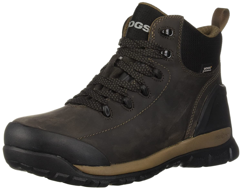 773e453e5d3 Bogs Men's Foundation Leather Mid Waterproof Soft Toe Industrial ...