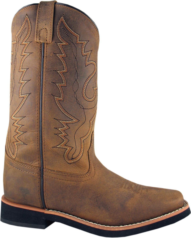 Smoky Mountain Women's Pueblo Cowgirl Boot Square Toe - 6520 B008OLRXX4 8 M US|Dark Crazy Horse