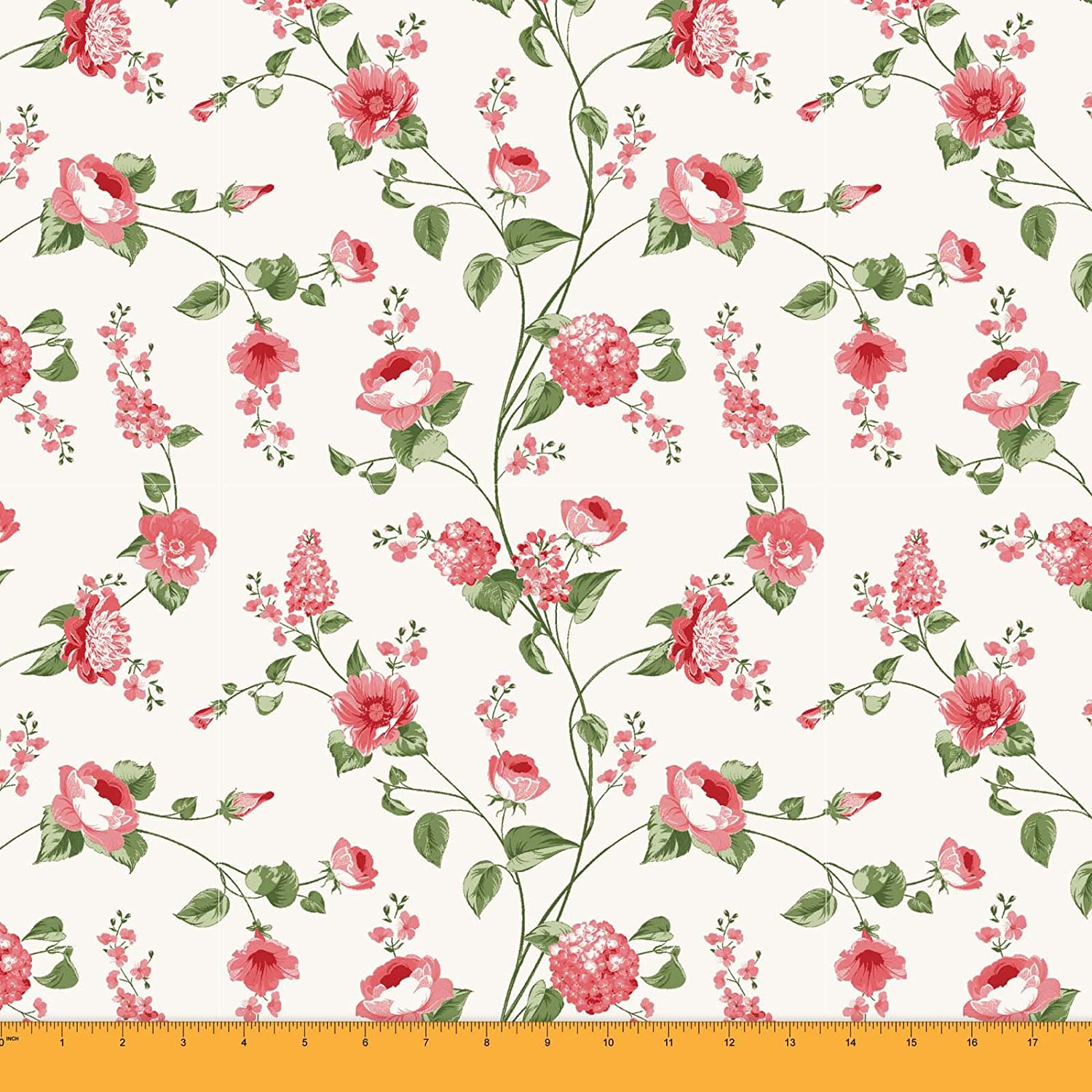 Soimoi 60 Wide 2-Way Stretch Floral Printed Velvet Fabric By The Metre