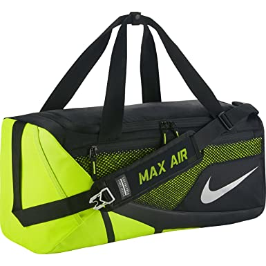 Amazon.com: Nike Vapor Max Air 2.0 Medium Duffel Bag (Medium,  Black/Volt/Metallic Silver): Sports & Outdoors