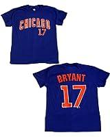 Chicago Cubs Kris Bryant #17 Jersey T-Shirt Road Blue 11589