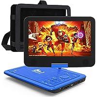 "DR. J Professional 12.5"" Portable Car headrest Video Player, Region-Free Portable DVD Player 10.5"" HD Swivel Screen SYNC…"