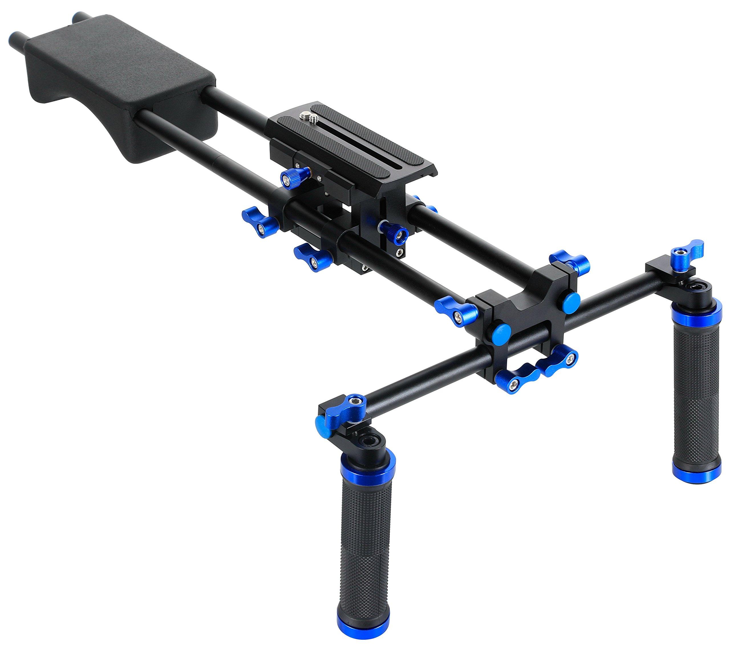 MARSRE Pro DSLR Shoulder Rig Film Making System Camera Shoulder Mount With Camera/Camcorder Mount Slider For All DSLR Video Cameras and DV Camcorders