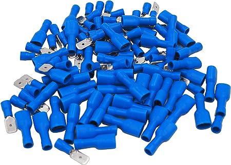 Elektronik und Hobby Isolierte F/ür Kfz M8 Kabelringschuhe // Ringkabelschuhe Blau Lochdurchmesser = 8.4mm Quetschverbinder Kabelschuhe x 50 KOSTENLOSER VERSAND!