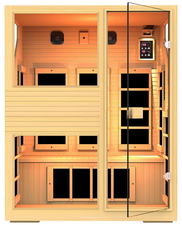 3 Person NO EMF Infrared Sauna Limited Lifetime Warranty