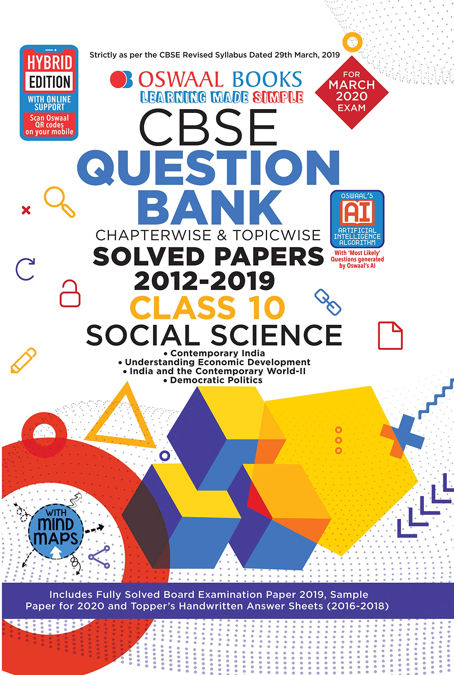 Oswaal CBSE Question Bank Class 10 Social Science Book Chapterwise & Topicwise Includes Objective Types & MCQ's (For March 2020 Exam) (9389067391) Amazon Price History, Amazon Price Tracker