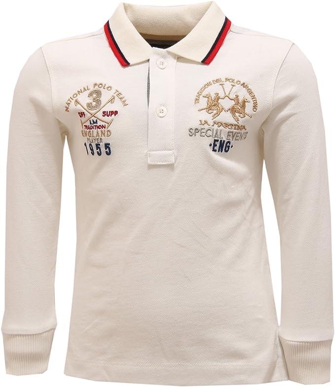 La Martina 2291V Polo Bimbo Junior Bianco White t-Shirt Polo Boy ...