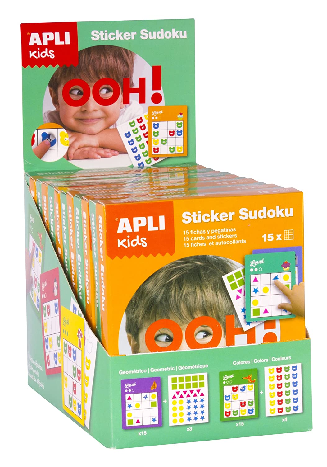 APLI Apli14816 Sudoku Display Sticker Games in 2 Design (12Piece)