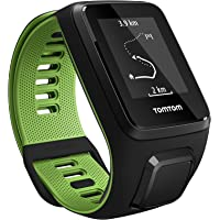TomTom Runner 3 GPS Running Watch with Music and Bluetooth Headphone - Small Strap, Black/Green