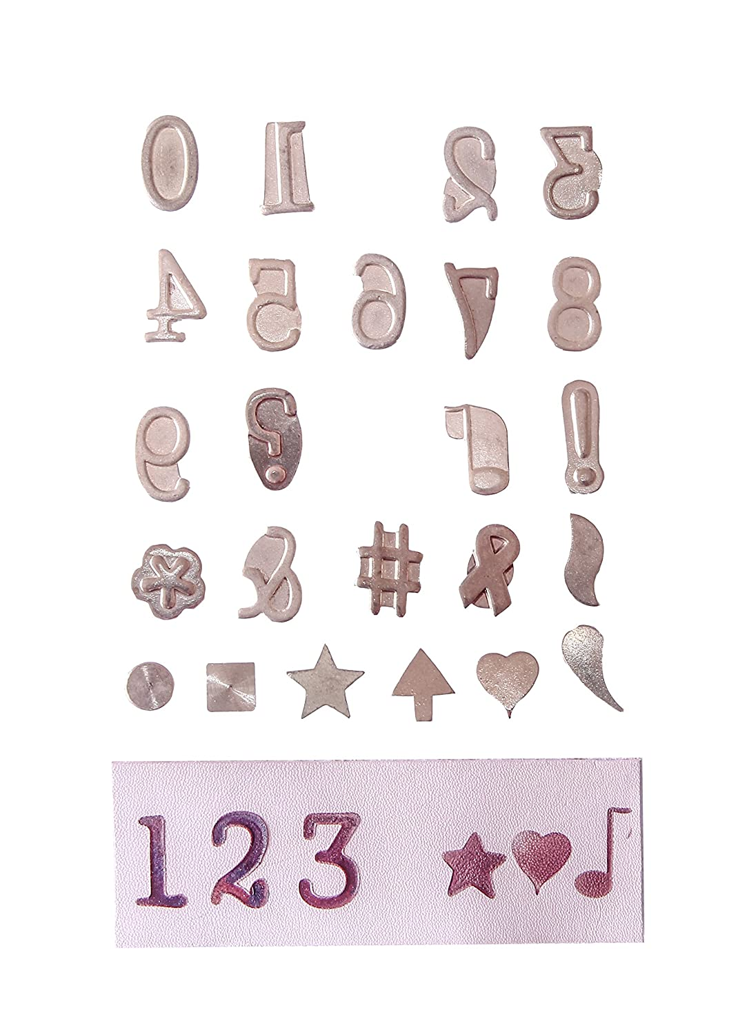 Antex R8Q0M030 Number and Symbol Pyrography Stamps
