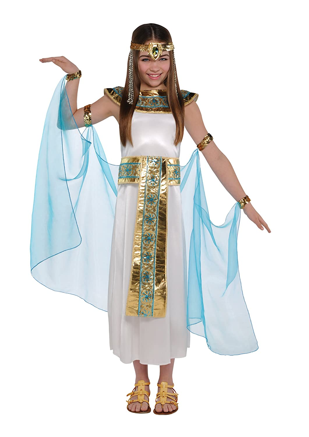 Girls Cleopatra Fancy Dress Kids Egyptian Queen Costume Kids Outfit Amscan 997692