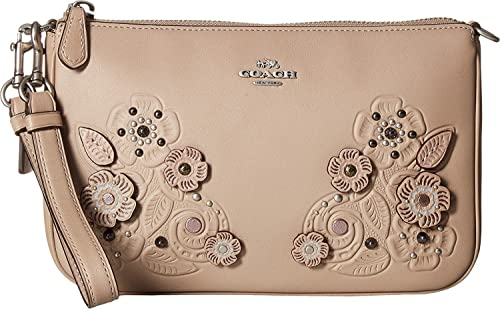 Coach women s tea rose tooling with applique tooling nolita
