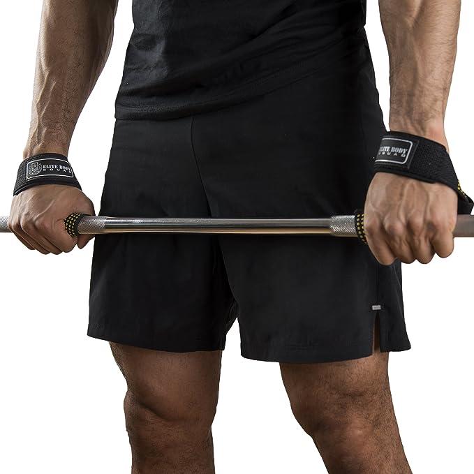 Elite Body Squad Pro - Correas para levantamiento de peso, con apoyo de neopreno para la muñeca, perfectas para el entrenamiento de resistencia, Crossfit, ...