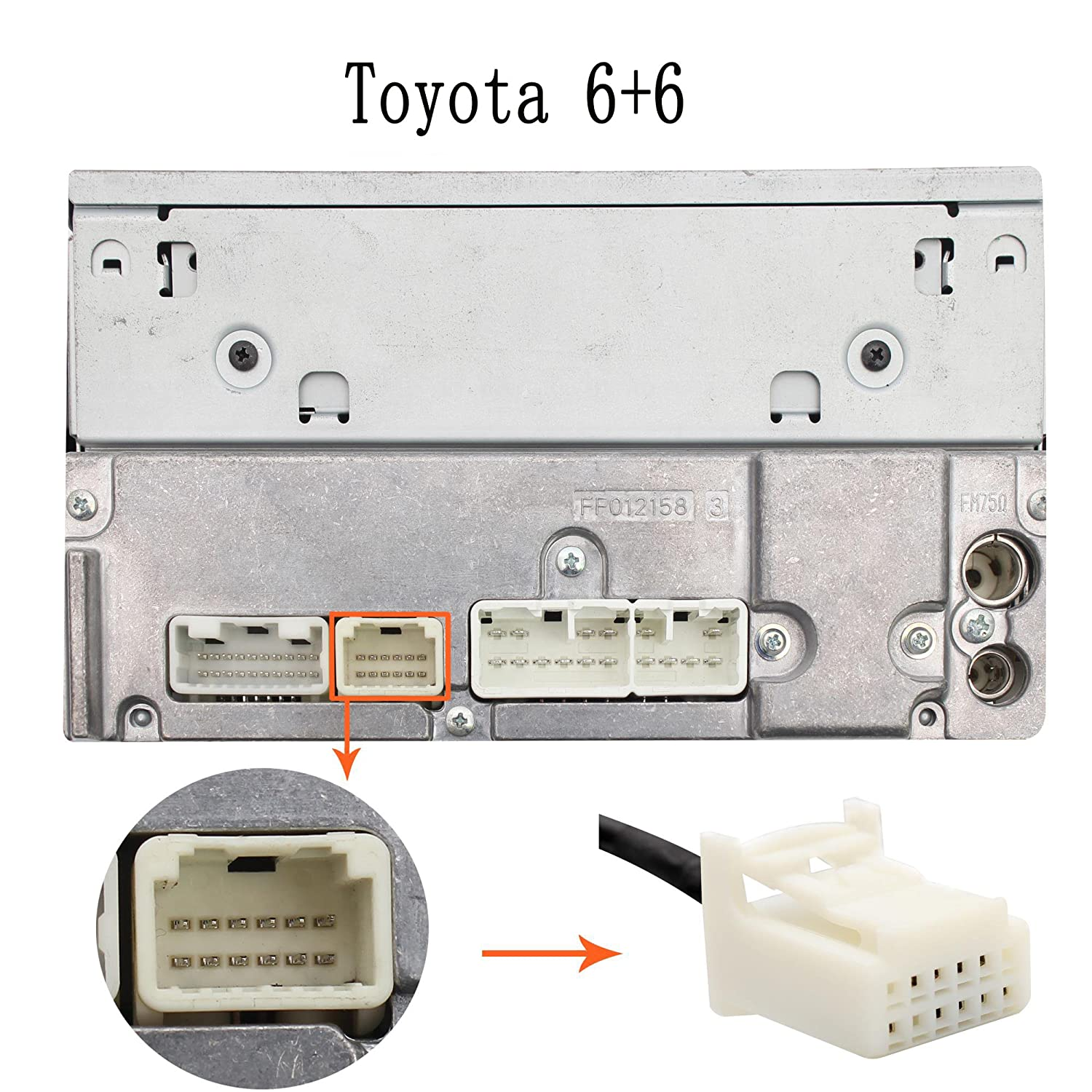 amazon com yomikoo auxillary adapter car radio 3 5mm audio input amazon com yomikoo auxillary adapter car radio 3 5mm audio input adapter aux jack interface for toyota 6 6 pin camry 2005 2011 avensis 2003 2011