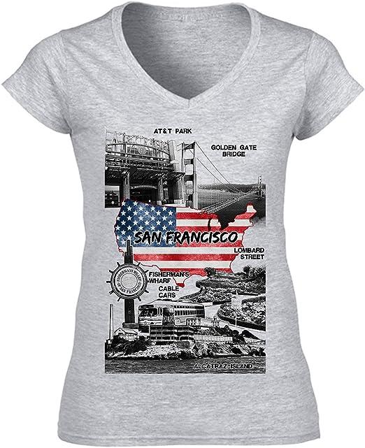 teesquare1st San Francisco USA Camiseta para Mujer de Algodon: Amazon.es: Ropa y accesorios