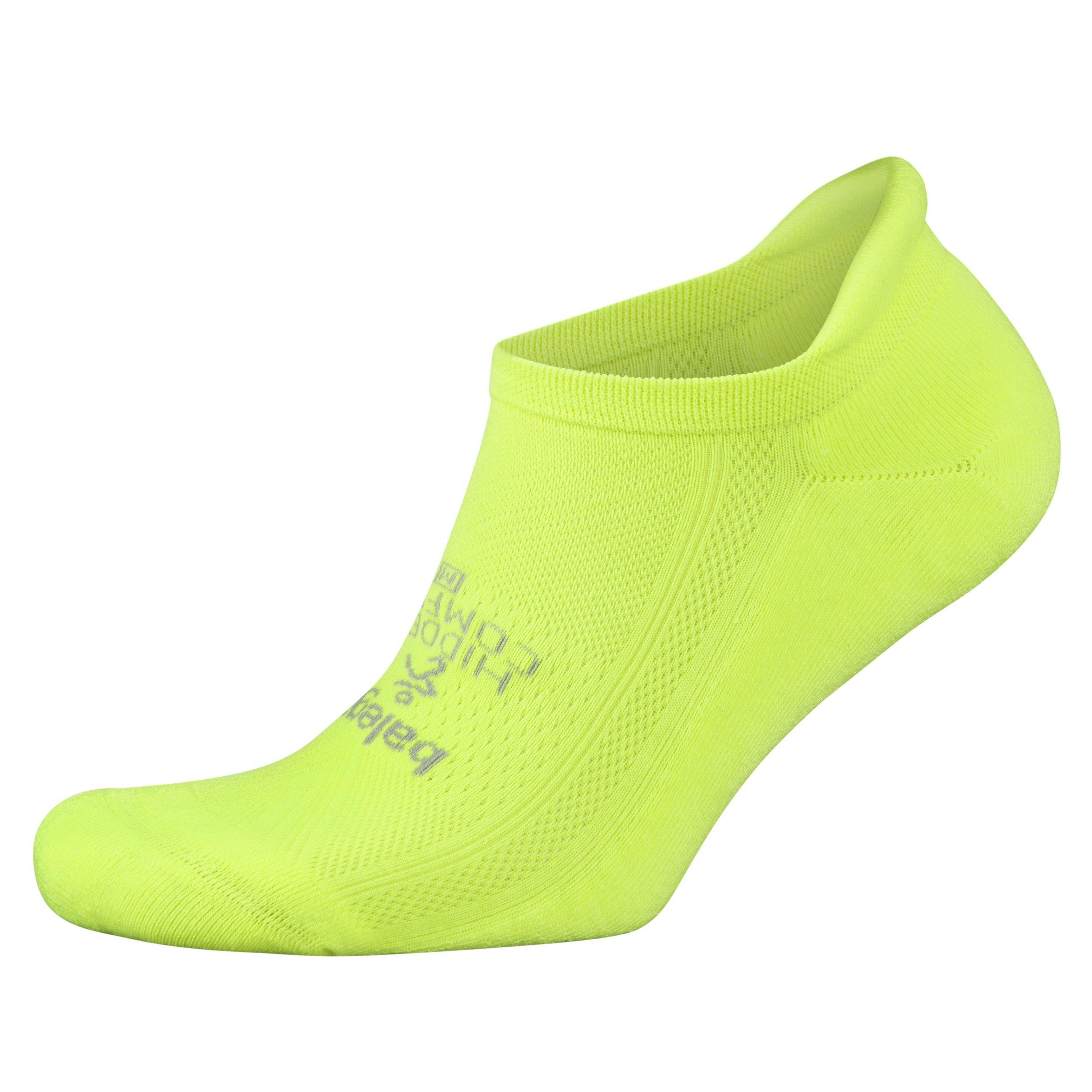 Balega Hidden Comfort Athletic No Show Running Socks for Men and Women with Seamless Toe, (Small) - Zest Lemon