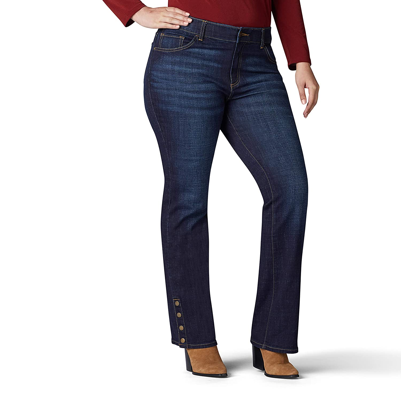 LEE Womens Plus-Size Flex Motion Regular Fit Bootcut Jean