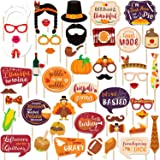 47 PCS Friendsgiving Photo Booth Props For Friends Thanksgiving Feast Give Thanks Fall Harvest Funny Turkey Party…