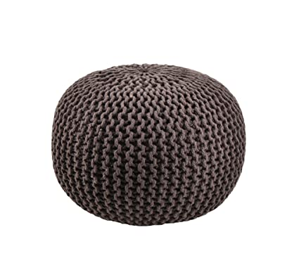 Moycor 763013.0 - Puff crochet redondo, 45 x 45 x 35 cm, color ...