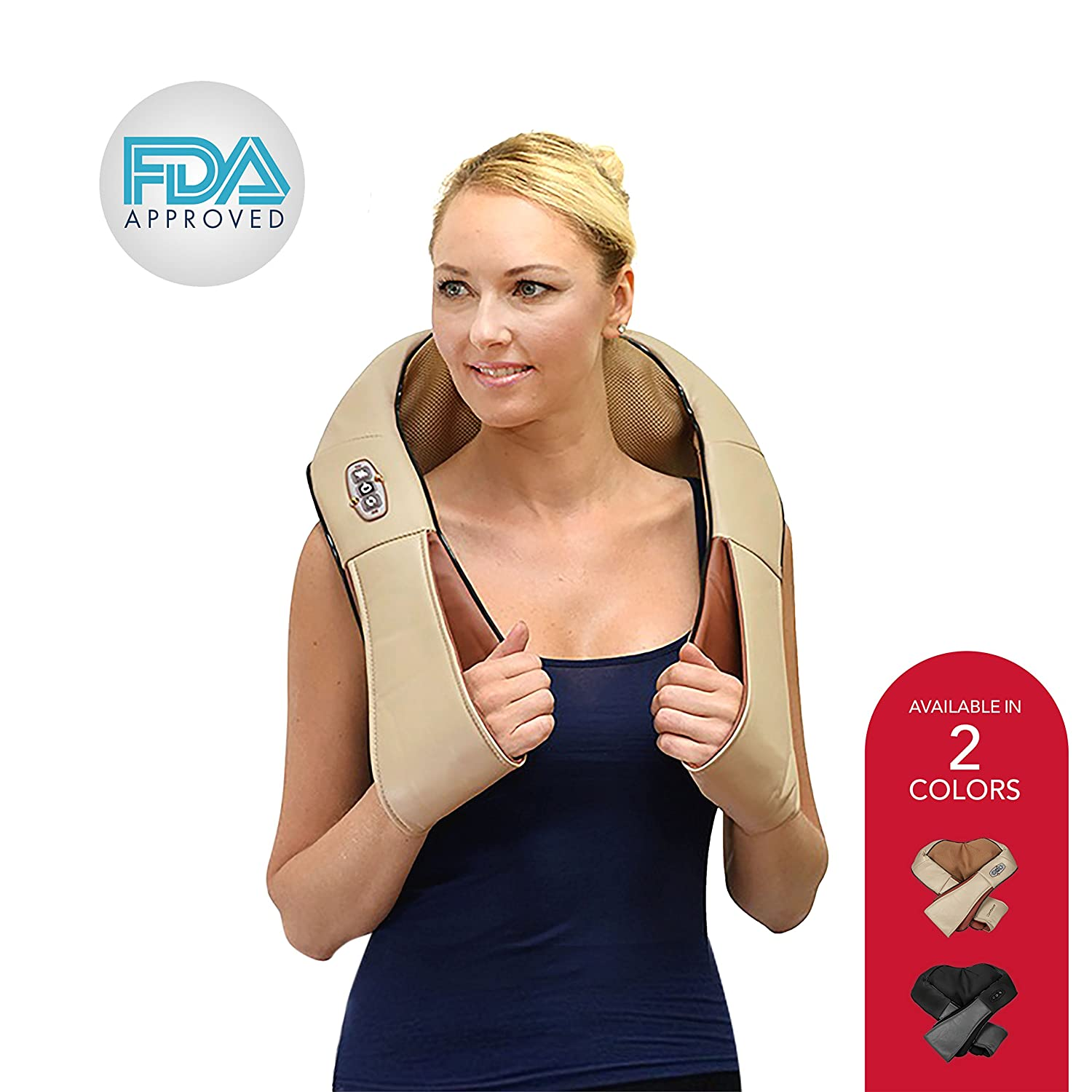 Amazon Shiatsu Shoulder And Neck Massager 3 Speed Deep