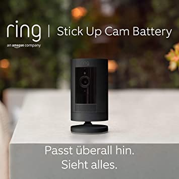 Ring Stick Up Cam Battery Von Amazon Hd Sicherheitskamera Mit Gegensprechfunktion Funktioniert Mit Alexa Mit 30 Tägigem Testzeitraum Für Ring Protect Schwarz Alle Produkte
