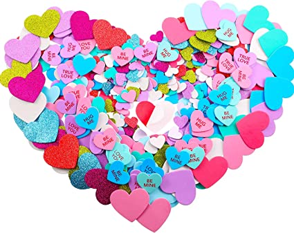 16 Sweet Hearts Self-Adhesive  Stickers