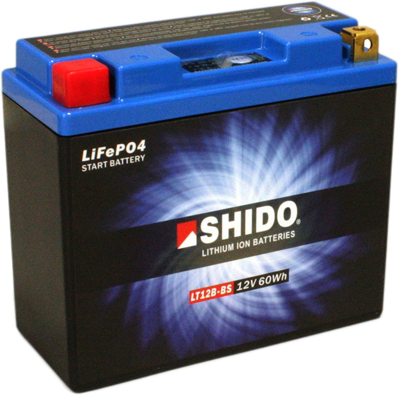 Motorrad Batterie Shido Lithium Lt12b Bs Yt12b Bs 12v 10ah Maße 150x69x130 Auto