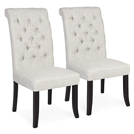 Astonishing Best Choice Products Furniture Set Of 2 Tufted Parsons Dining Chair Set Modern Wood Linen Side Chair Gmtry Best Dining Table And Chair Ideas Images Gmtryco