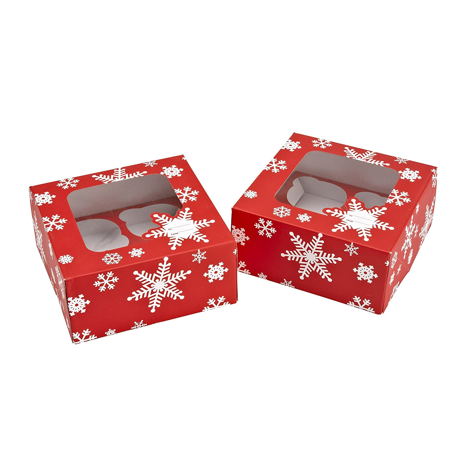 Sweet Creations Candy Cane Stripe Cupcake Boxes, Pack of 2