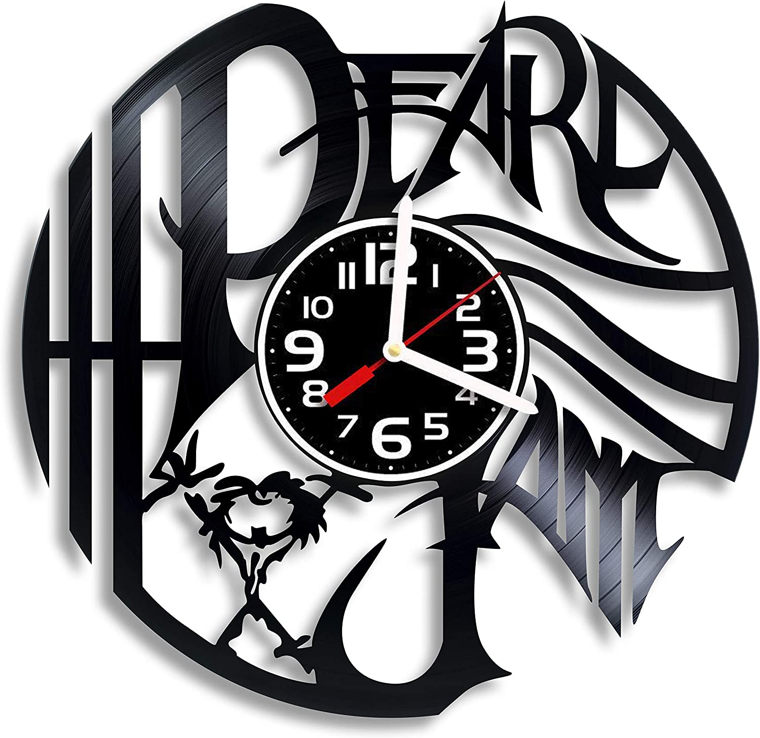 Luchko Decor Complicatible with Pearl Jam Vinyl Wall Clock, Pearl Jam Gift for Any Occasion, Christmas, Birthday, Holiday, Housewarming Present