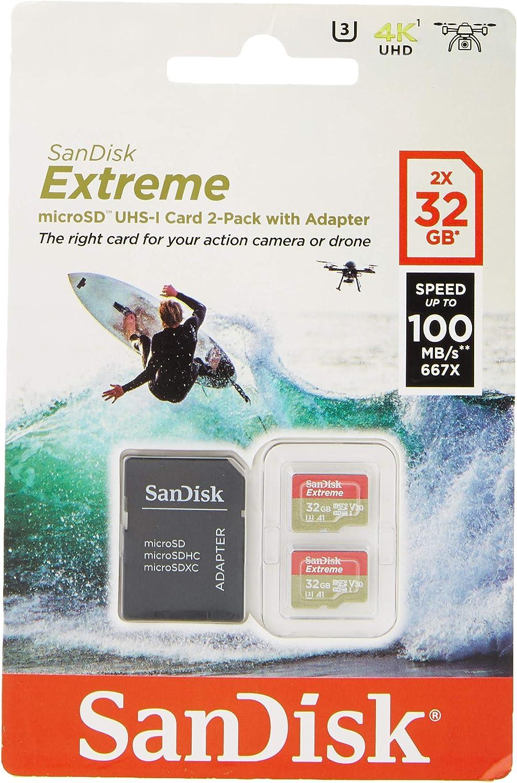 SanDisk Tarjeta de Memoria Extreme 32 GB microSDHC para cámaras de ...