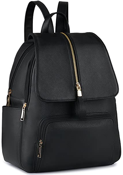 8f266499ad COOFIT Sac a Dos Femme Sac Dos Cuir Synthétique Cartable Femme College Sac  a dos Noir Sac a Dos College Fille: Amazon.fr: Bagages
