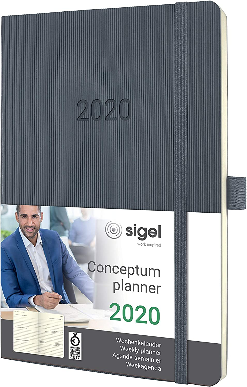 SIGEL Wochenkalender Conceptum 2020 ca.A5 Hardcover jade green C2070